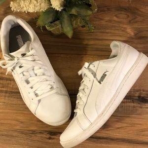 Men's Puma Basket White/White Sneakers 8